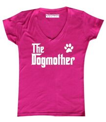 The Dogmother Dog Lovers Mother's Day Gift Women's junior fit Women's V-Neck