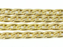 16-24 4.5mm 10k Yellow Flat Anchor Link Chain New Solid Italian Necklace2516