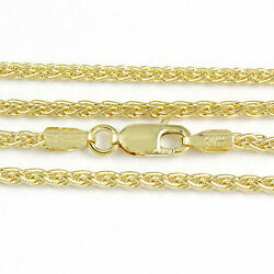 16-24 2.1mm 18k Yellow Gold Round Wheat Chain New Solid Italian Necklace2366
