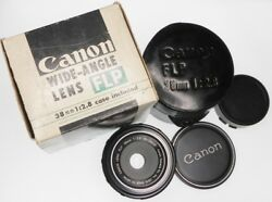 Canon Fl-p 38mm F2.8 Pancake For Pellix 10248 .......... Minty W/boxcasecaps