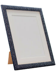 Glitz Charcoal Picture Photo Frame With White Black And Other Coloured Mounts