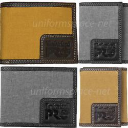 Timberland Pro Canvas Leather Wallet Men WHITNEY Bifold Trifold RFID Wallets $18.99