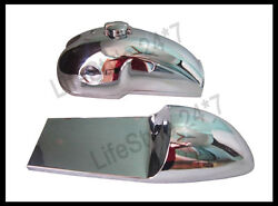 Benelli Mojave Cafe Racer 260 360 Chrome Petrol Tank Seat Hood With Monza Cap