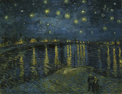 Starry Night Over The Rhone By Van Gogh, Giclee Canvas Print, In Various Sizes