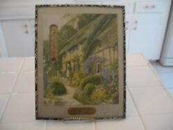 Vintage Framed Wilson Concrete Iowa Advertising Thermometer Cottage Picture