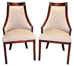 Pair Of Newly Upholstered Mahogany Directoire Side Chairs C. 1910and039s