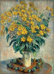 Jerusalem Artichokes By Claude Monet, Giclee Canvas Print, In Various Sizes