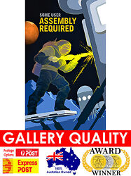 New Nasa Space Artwork Vintage Mars User Assembly Giclee Art Print Or Canvas