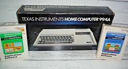 Vintage Texas Instruments Ti 99/4a Computer System- Never Been Used