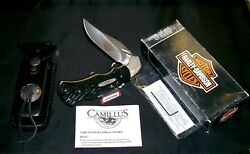 Camillus Hd-1 Lockback Knife Harley Davidson 1998-h.d. And Packaging,papers W/tool