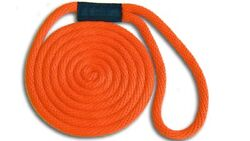 Solid Braid Nylon Dock Line 5/8 X 25and039 - Floats Fade Proof - Usa Made - Orange