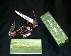 Remington R7 Knife Turkey Hunters Trapper W/inscribed Blade W/packaging And Papers