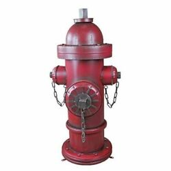 Antiqued Vintage Replica Metal Fire Hydrant Giant 41.5 Garden Statue