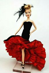 Black Red Evening Dress Outfit Clothes Silkstone Fashion Royalty Model Muse FR $22.99
