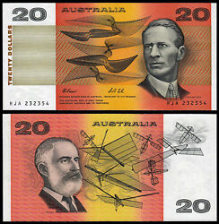 Australia 20 Dollars P46h N. D. 1991 Fraser And Cole Unc