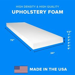 High Density Upholstery Foam Seat Couch Cushion Replacement - 24 X 72