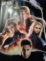 Fantastic 4 Got Milk Poster Banner Big Rare Never Seen One Like It On Here
