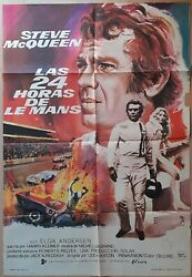 Le Mans Original Spain 71and039 Movie Poster Steve Mcqueen And Car Exploding Mcp Art