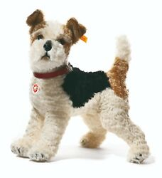 Steiff 'Foxy' Fox Terrier - mohair soft toy collectable puppy dog - 031717