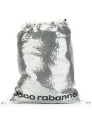 NEW EXCLUSIVE WOMENS SEQUIN EMBELLISHED BACKPACK PACO RABANNE