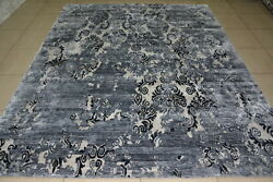 India 9x12 270x365 Hand Knotted Indo Tibet Nepalese Bamboo Silk Carpet Rug Hali