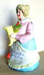 Rare 1886 Porcelain 'coffee And Beer' Maid Pitcher By Grafenthal Porzellanfabrik