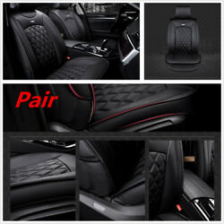 Luxury Car Front Seat PU Leather  Seat Cover Cushion 3D Surround Breathable BLK