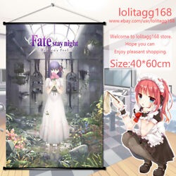 Anime Movie Wall Scroll Poster Fate Stay Night Heavenand039s Feel Home Decor Gift