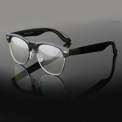 New Clear Lens Glasses Men Women Nerd Horn Frame Fashion Eyewear Designer Retro $8.79