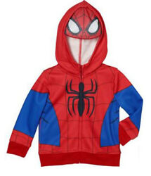 Spiderman Boys Toddler Hoodie Full Zip with Hood Mask Lightweight