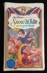 Disneyand039s Snow White And The Seven Dwarfs Vhs Collectible Mint Brand New Sealed
