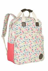 Diaper Backpack Vintage Style Baby Nappy Bag Wipeable Changing Mat Stroller Hook