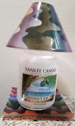 New Yankee Jar Candle w Matching Candle Shade amp; Tray