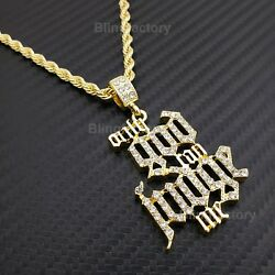 Hip Hop Iced Only God Can Judge Me Pendant And 4mm 24 Rope Chain Bling Necklace