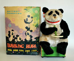 Rare Vintage Toy Battery Operated Bubbling Panda Me781 Made In China