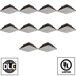 Case Of 10 Outdoor Ceiling Mount Canopy Gas Station Led Light Fixtures 88127-su