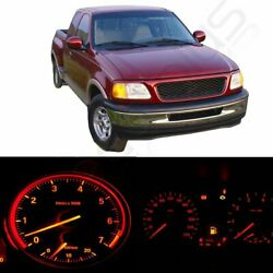 Red LED Bulbs for Ford F-150 Instrument Cluster Dash W/ Climate Control Light