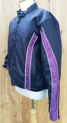 Womenand039s Xl Racing Inspired Nylon Motorcycle Jacket By Tennessee Leather