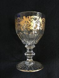 St. Louis France 1586 Gold Trianon Water Glasses 5.5 X 3.4 Set Of 6 - 50 Off