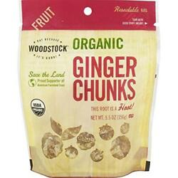 Woodstock Farms-Organic Ginger Chunks (8-5.5 oz bags)