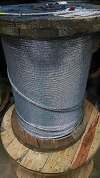 1/4 Galvanized Steel Strand Cable Guy Wire 1x7 Ehs 4000 Feet
