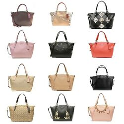 NEW Coach Signature Outline Leather Small Kelsey Satchel Bag $115.00