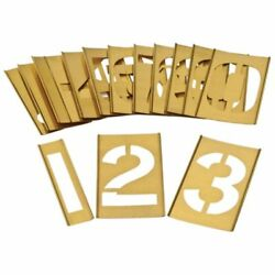 Dy-Mark BRASS INTERLOCKING STENCIL SET 0-9 Heavy Duty*Aust Brand- 125mm Or 150mm
