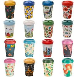 Eco Friendly Bamboo Reusable Coffee Cup Travel Takeaway Mug - Fun Picture Design