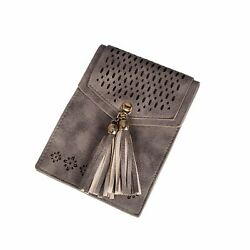 Small Crossbody Bag Tassel Phone Purse for Women Teen Girls with Double C... New