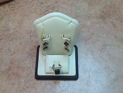 Amethyst Earring and Ring set (PB100463) (Pre-Owned)