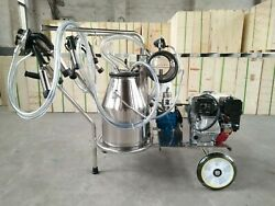 Gasoline + Electric Milking Machine For Cows+ Extras - Single - Fedex