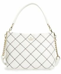 KATE SPADE NEW EMERSON PLACE SMALL RYLEY QUILTED SHOULDER BAG CEMENT NWOT $378