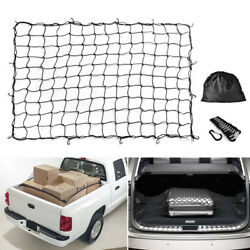 Big Bungee Cargo Net Stretch 7and039x5and039 To14and039x10and039 For Trailers Pickup Trucks Rooftops