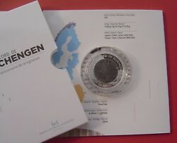 Luxembourg 2010 25th Annv. Of The Treaty Of Schengen 10 Euro Bi-metal Proof Coin
